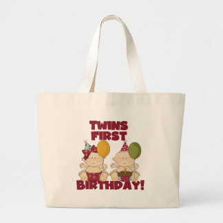 Twins 1st Birthday Boy/Girl T-shirts and Gifts Tote Bags
