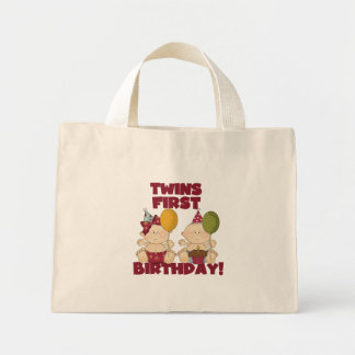 Twins 1st Birthday Boy/Girl T-shirts and Gifts Canvas Bag