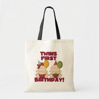 Twins 1st Birthday Boy/Girl T-shirts and Gifts Tote Bag
