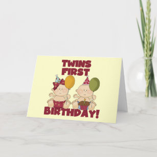 Twins 1st Birthday Boy Girl T Shirts And Gifts Card