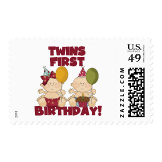 Twins 1st Birthday Boy/Girl T-shirts and Gifts Stamp