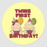 Twins 1st Birthday Boy/Girl T-shirts and Gifts Sticker