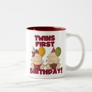 Twins 1st Birthday Boy/Girl T-shirts and Gifts Two-Tone Coffee Mug