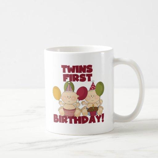 Twins 1st Birthday - Boys T-shirts and Gifts Classic White Coffee Mug