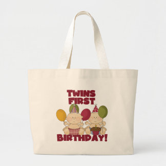 Twins 1st Birthday - Boys T-shirts and Gifts Large Tote Bag