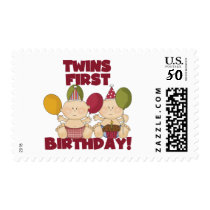 Twins 1st Birthday - Boys T-shirts and Gifts Postage