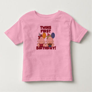 Twins 1st Birthday - Girls Tshirts and Gifts