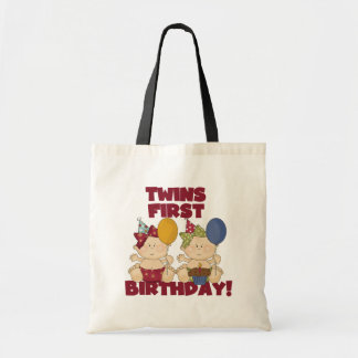 Twins 1st Birthday - Girls Tshirts and Gifts Tote Bags