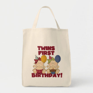 Twins 1st Birthday - Girls Tshirts and Gifts Tote Bag