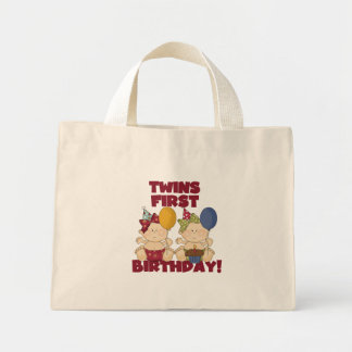 Twins 1st Birthday - Girls Tshirts and Gifts Bags