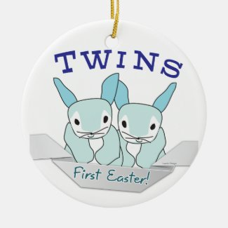 Twins 1st Easter Twin Boys ornament