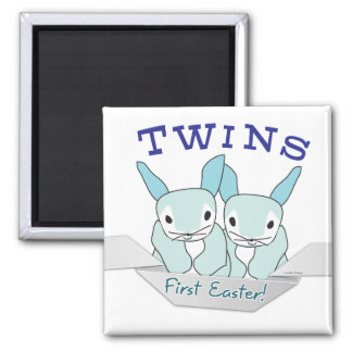 Twins 1st Easter Twin Boys Refrigerator Magnet