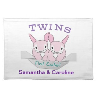 Easter Placemat Twin Girls