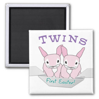 Twins 1st Easter Twin Girls Fridge Magnet
