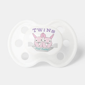 Twins 1st Easter Twin Girls Pacifier