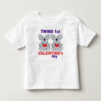 Twins 1st Valentines Day Toddler T-shirt