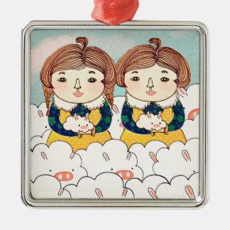 Twins 2013 metal ornament