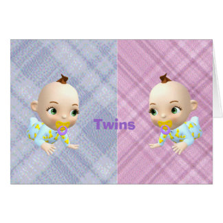 Twins 3 greeting card