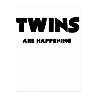 TWINS ARE HAPPENING POSTCARD