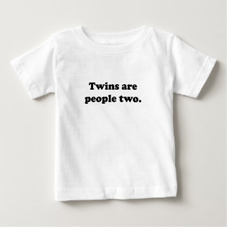 Twins Are People Two Tshirts