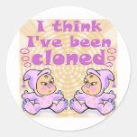 Twins Asian Babies Round Sticker