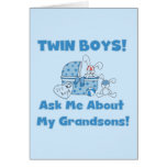Twins-Ask About My Grandsons Tshirts and Gifts Greeting Cards