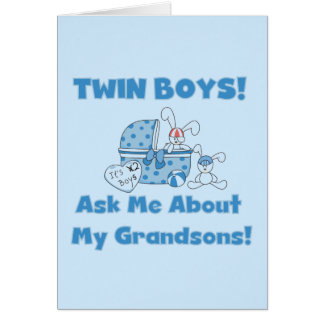 Twins-Ask About My Grandsons Tshirts and Gifts Card