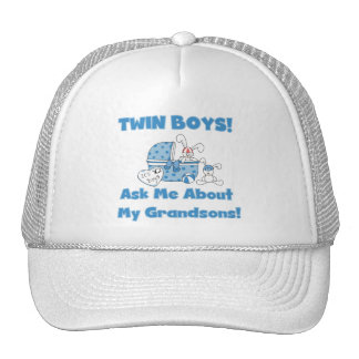 Twins-Ask About My Grandsons Tshirts and Gifts Trucker Hat