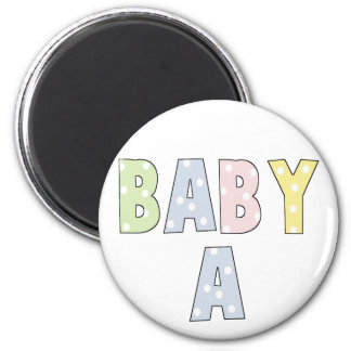 Twins Baby A Pastels 2 Inch Round Magnet