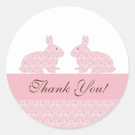Green Bunny Rabbit Baby Shower Bookplates Set of 20