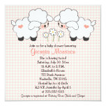 Twins Baby Lambs Baby Shower Invitations Girls