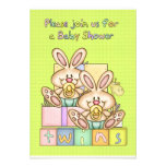 Twins Baby Shower - Baby Shower Card For Twins Custom Invites