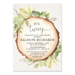 Twins baby shower, gender neutral twin rustic invitation