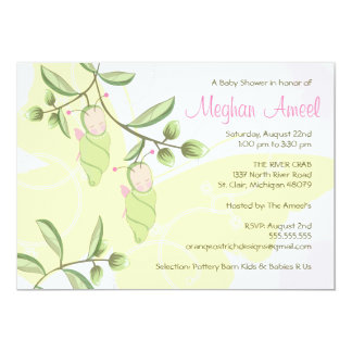 Twins Baby Shower Invitation - Butterflies