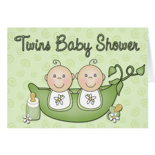 twins baby shower invitation cards zazzle