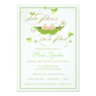 Twins baby shower invitations announcements zazzle twins baby shower invitation two peas in a pod filmwisefo
