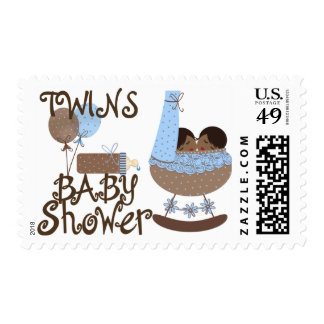 Twins Baby Shower Postage