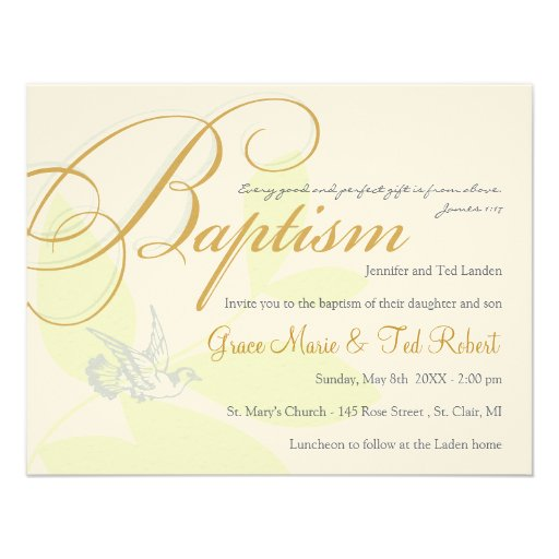Twin Baptism Invitations could be nice ideas for your invitation template