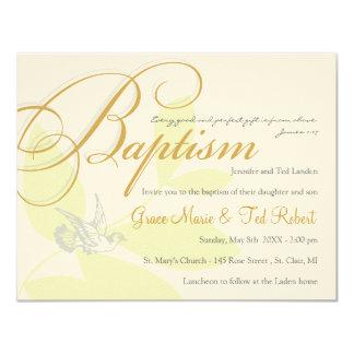 "Twins Baptism Invitation 4.25"" X 5.5"" Invitation Card"