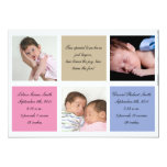 Twins birth announcement - Girl and boy
