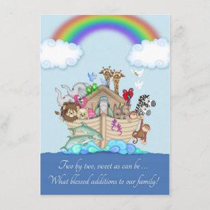 Twins Birth Announcement - Noah's Ark