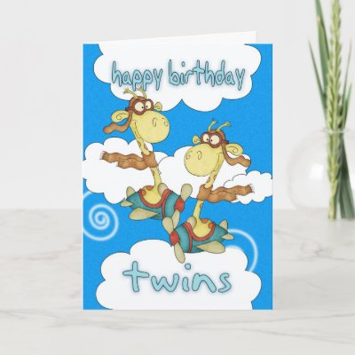 Happy birthday to the twins Birthday Card Zazzlecom