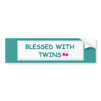 Twins Blessed with Twins Bumper Sticker bumpersticker