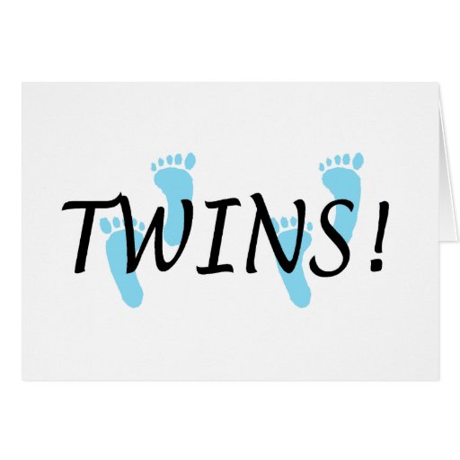 Twins (Blue Footprints) Cards