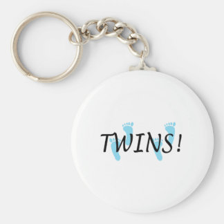 Twins (Blue Footprints) Keychain