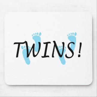 Twins (Blue Footprints) Mouse Pad