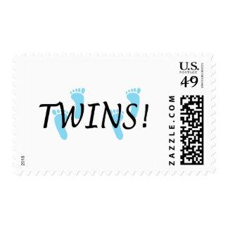 Twins (Blue Footprints) Postage Stamp