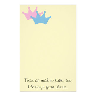 Twins Boy and Girl! Stationery