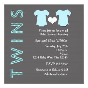 Twin Boys Baby Shower Invitations Announcements Zazzle