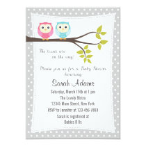 Twins Boy Girl Baby Shower Invitation